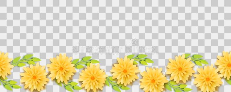 Üppiger Kamillenpapier-Origamivektor stock abbildung