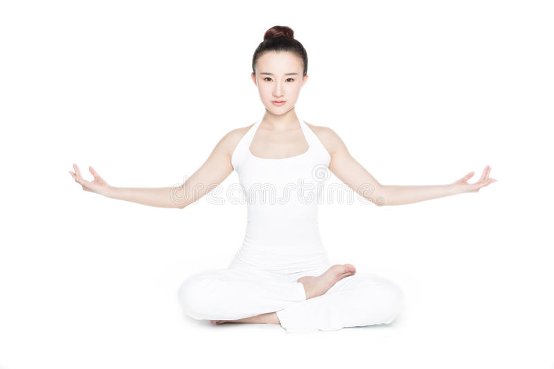 ćwiczenia ćwiczyć kobiety joga potomstwa fotografia stock