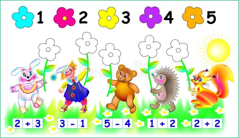 Ćwiczenia dla dzieci - potrzeby malować teraźniejszość w istotnym kolorze ilustracja wektor