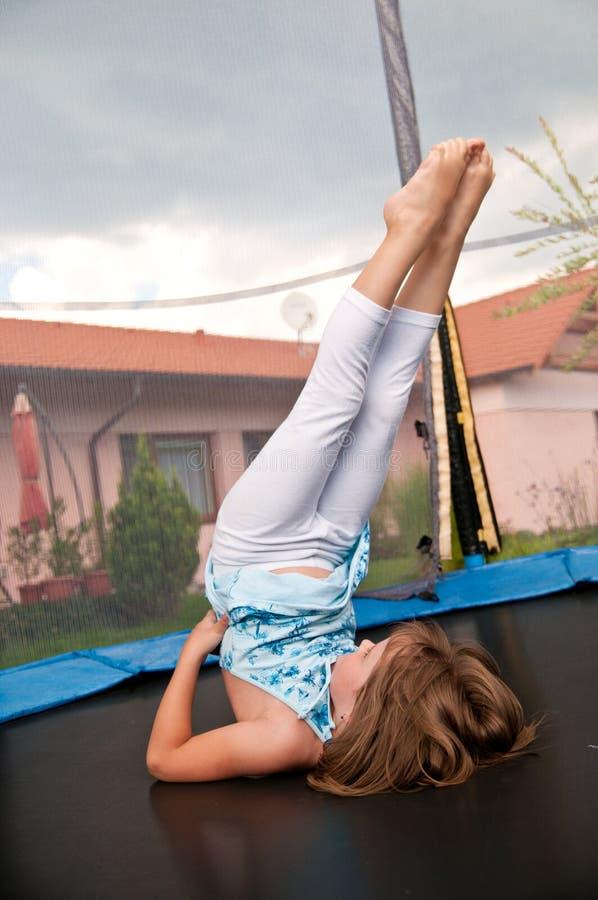 ćwiczenia trampoline obrazy royalty free
