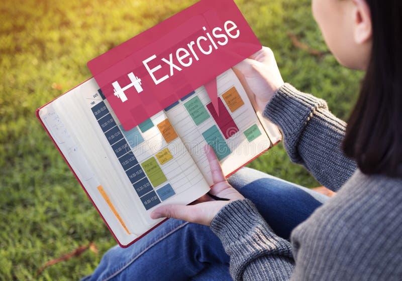 Ćwiczenie aktywności Nominacyjnego stylu życia Cardio pojęcie obrazy stock