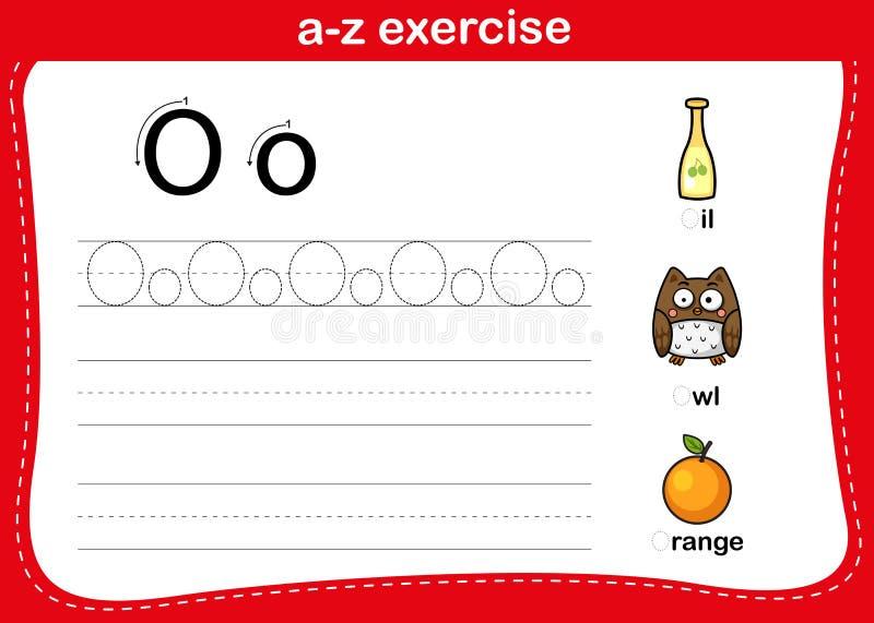 Ćwiczenie alfabetu a-z z słownikiem komiksowym royalty ilustracja