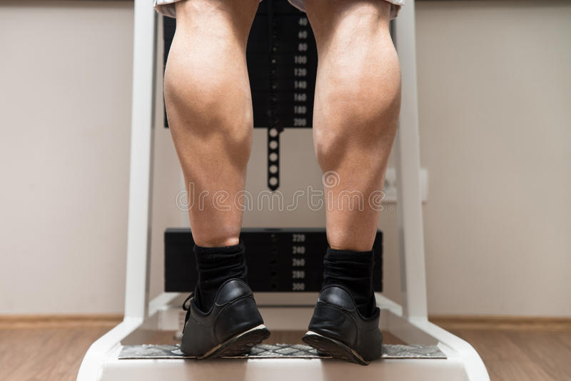 Ćwiczenie Dla nóg łydek obraz stock
