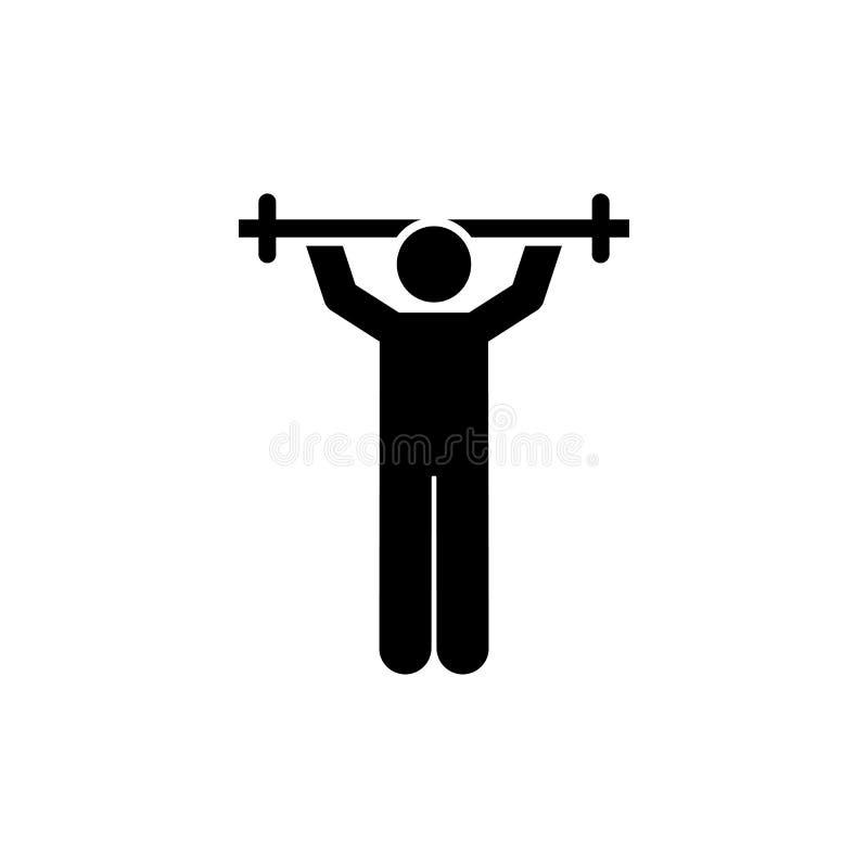 Ćwiczenie, gym, sporty, szkolenie, obciąża ikonę Element gym piktogram Premii ilo?ci graficznego projekta ikona podpisz symboli ilustracji