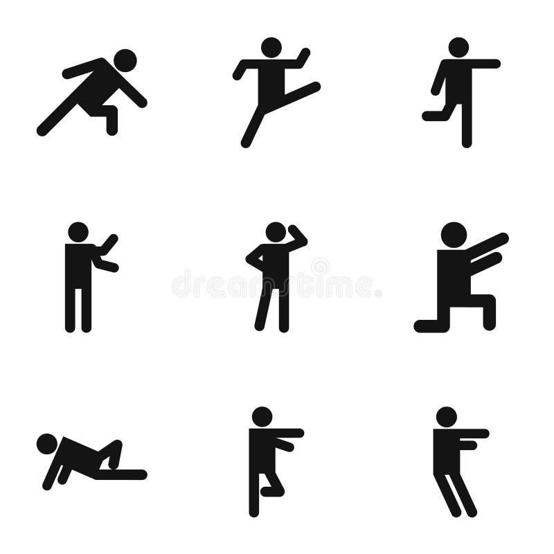 Ćwiczenie ikony ustawiać, prosty styl ilustracja wektor
