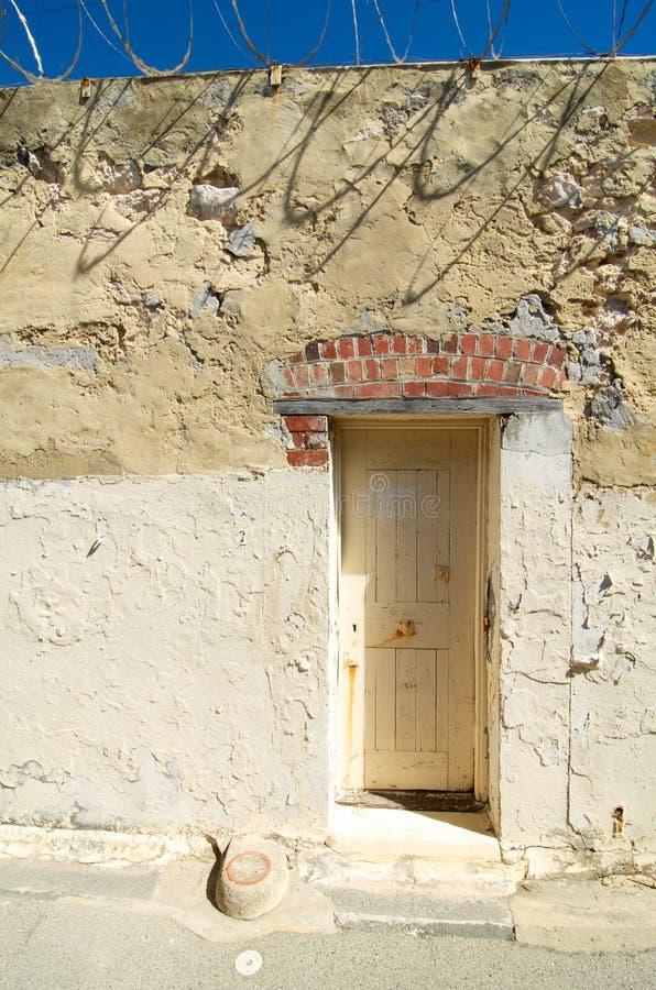 Ćwiczenie jarda Fremantle drzwiowy więzienie, zachodnia australia zdjęcie stock