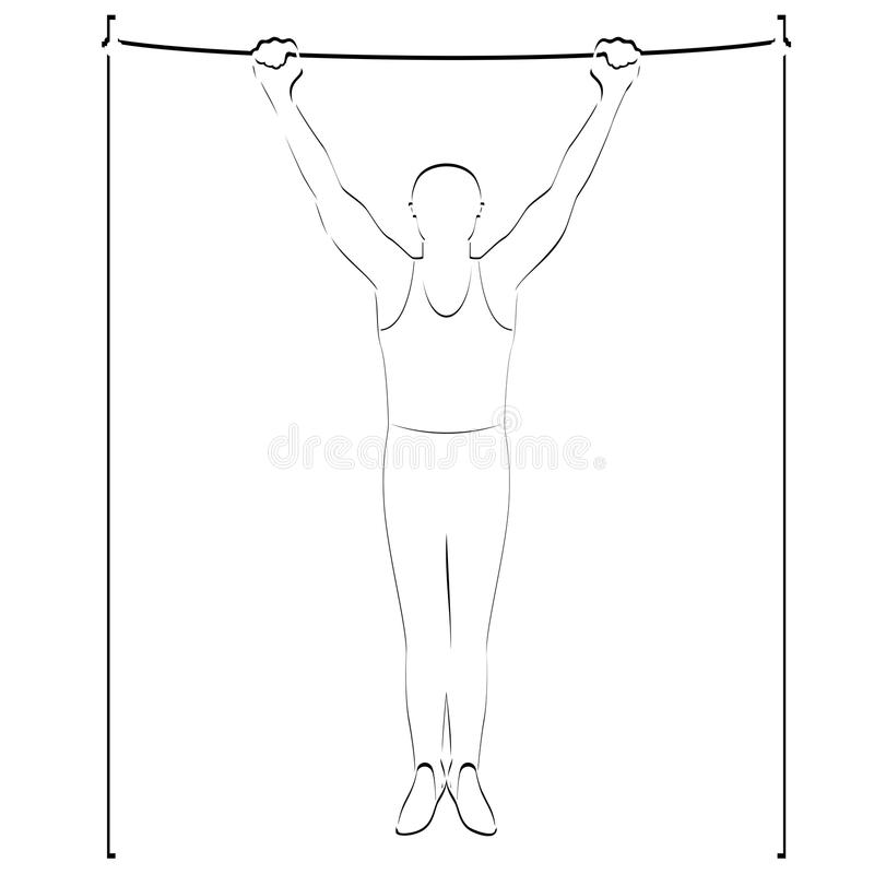 Ćwiczenie na crossbar ilustracja wektor