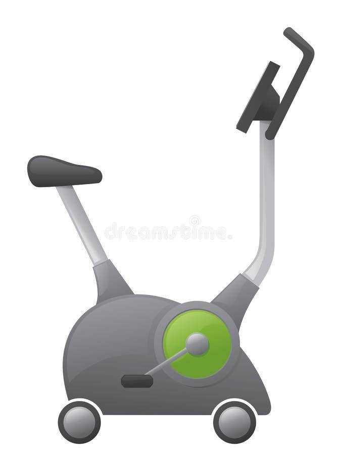 Ćwiczenie rower royalty ilustracja