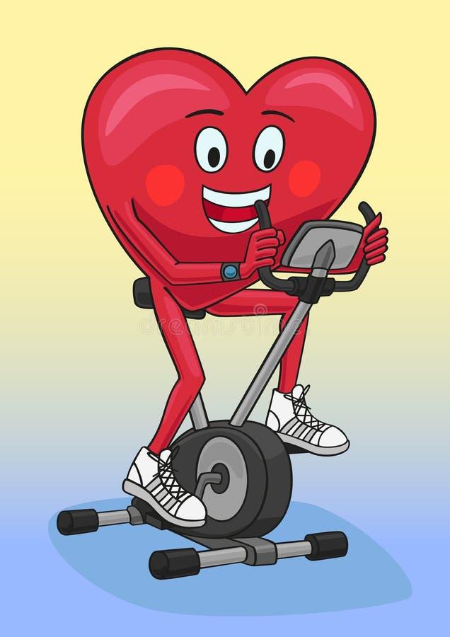 Ćwiczenie rower ilustracji
