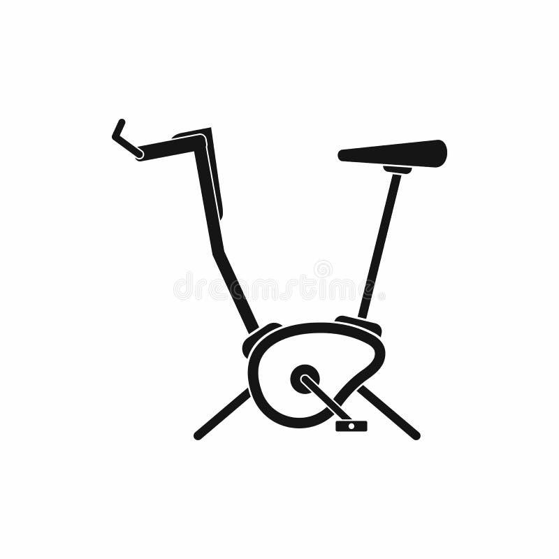 Ćwiczenie roweru ikona, prosty styl ilustracji
