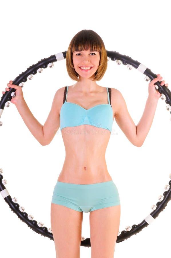 ćwiczy obręcza hula zdjęcie stock
