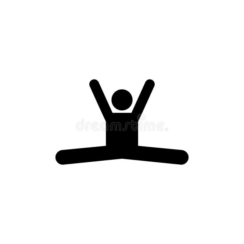 Ćwiczy, obsługuje, gym, sport, sprawności fizycznej ikona Element gym piktogram Premii ilo?ci graficznego projekta ikona podpisz  ilustracja wektor
