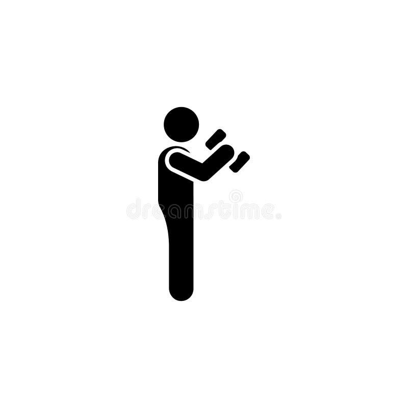 Ćwiczy, obsługuje, gym, sport, sprawności fizycznej ikona Element gym piktogram Premii ilo?ci graficznego projekta ikona podpisz  ilustracji