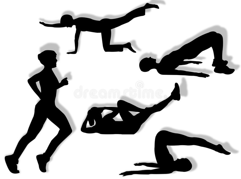 ćwiczy sprawność fizyczną ilustracja wektor