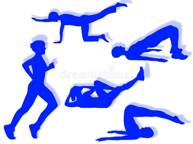 ćwiczy sprawność fizyczną ilustracji