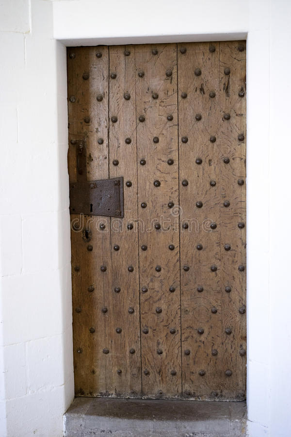 Ćwieka drewniany drzwi zdjęcie stock