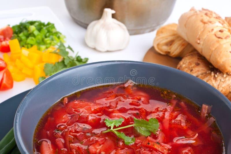 ćwikłowy czerwony zupny warzywo zdjęcie stock