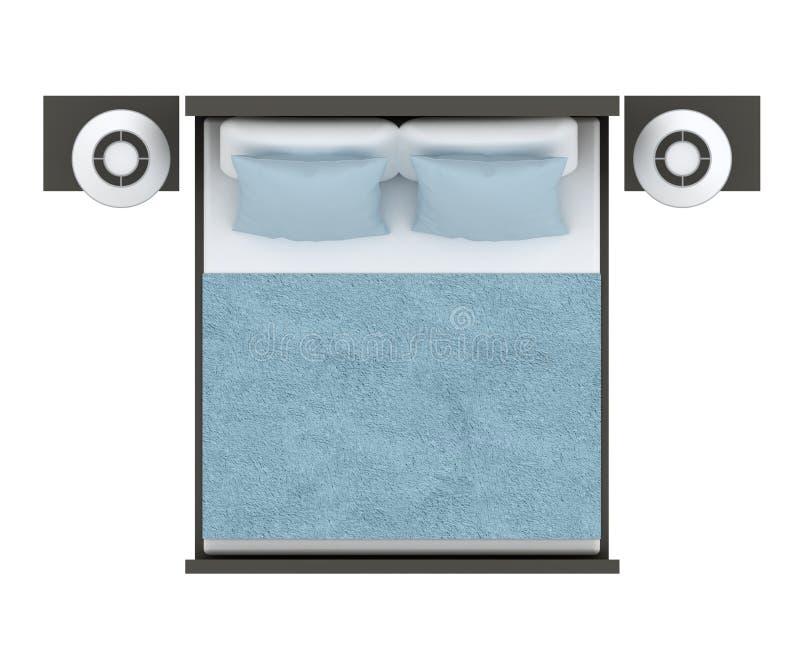 łóżko odizolowywający obrazy stock