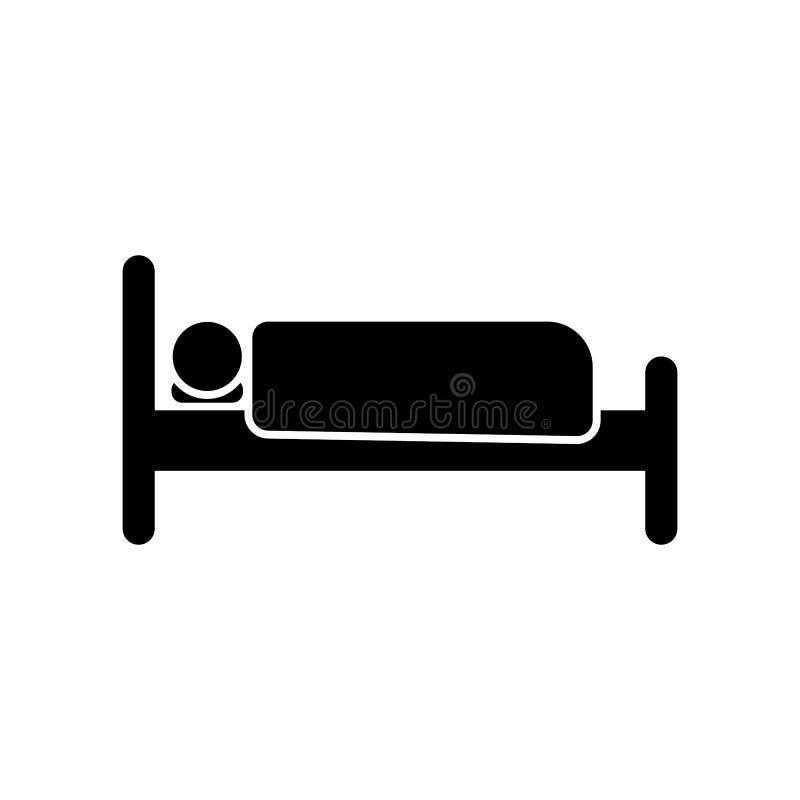 łóżko, sen, hotel, izbowa ikona Element hotelowa piktogram ikona Premii ilo?ci graficznego projekta ikona znaki i symbole inkasow royalty ilustracja