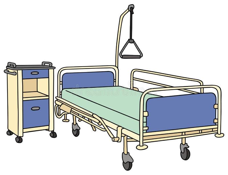 Łóżko szpitalne royalty ilustracja