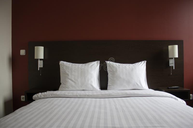 Łóżko w hotelu zdjęcia stock