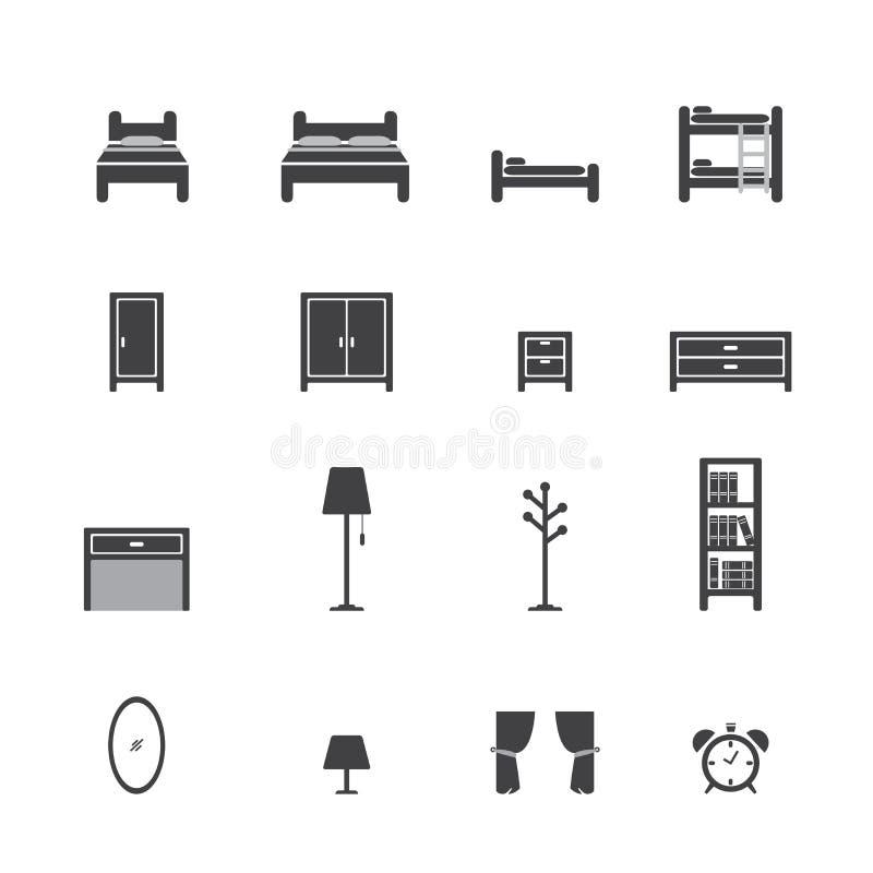 Łóżkowa ikona royalty ilustracja