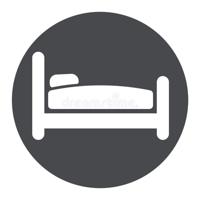 Łóżkowa okrąg szarość ikona ilustracji