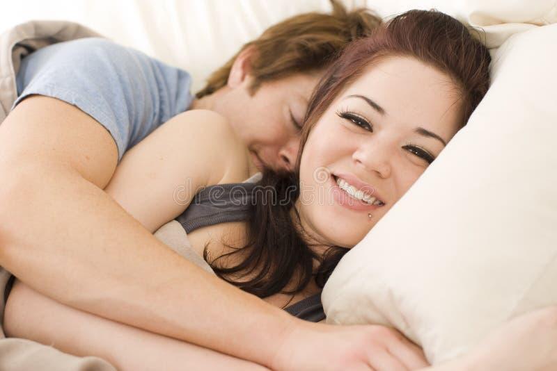 łóżkowa para fotografia royalty free