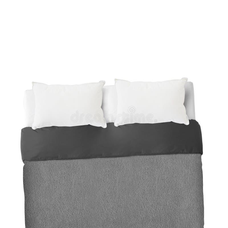Łóżkowi prześcieradła i poduszki zdjęcia stock