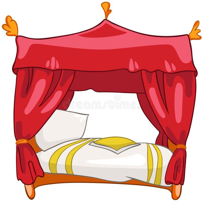 łóżkowy kreskówki meble dom royalty ilustracja