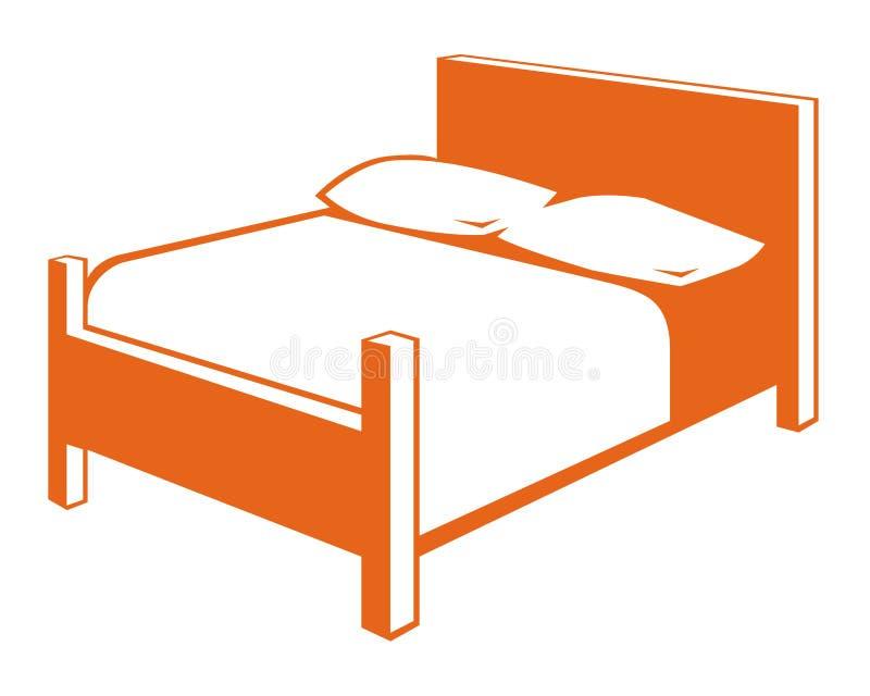 Łóżkowy symbol royalty ilustracja