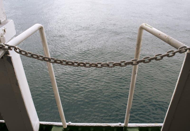 Łódź łańcuch zdjęcie stock