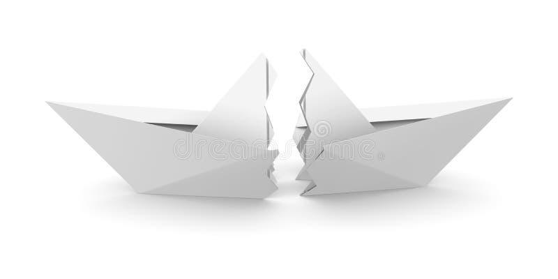łódź łamać papierowe część dwa ilustracji