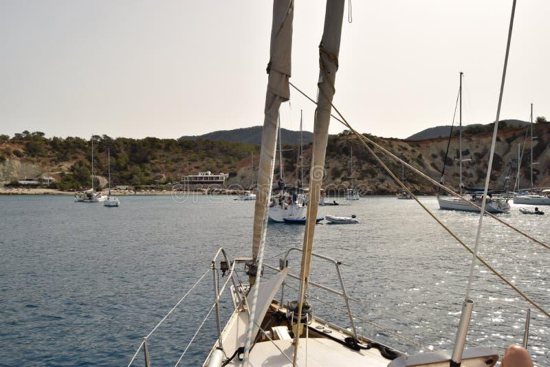 Łódź żagle - Ibiza Hiszpania zdjęcie royalty free