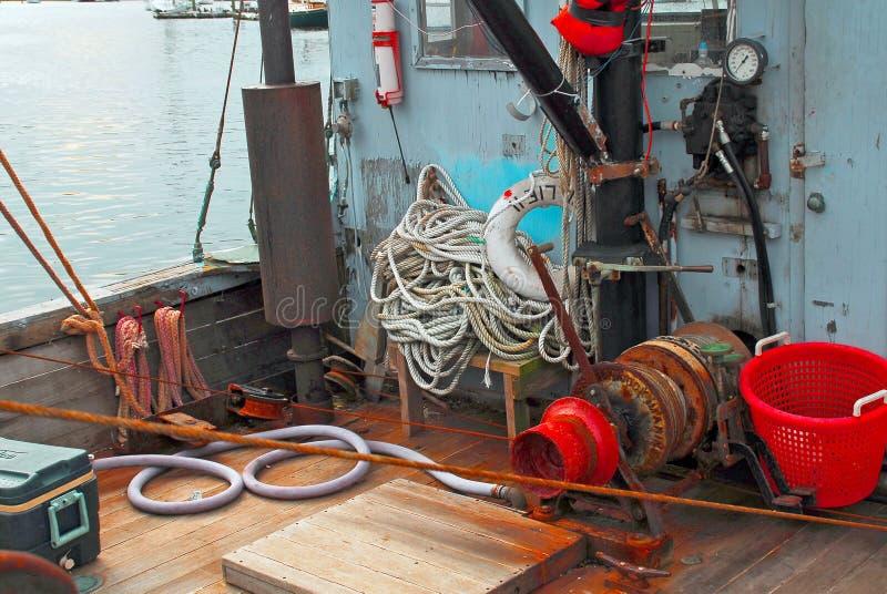 łódź idzie homar przygotowywający zdjęcia stock