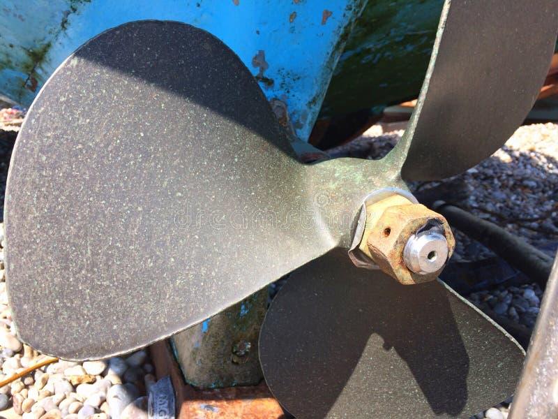 Łódź lub statku śmigło pokazuje kingnut zdjęcia stock