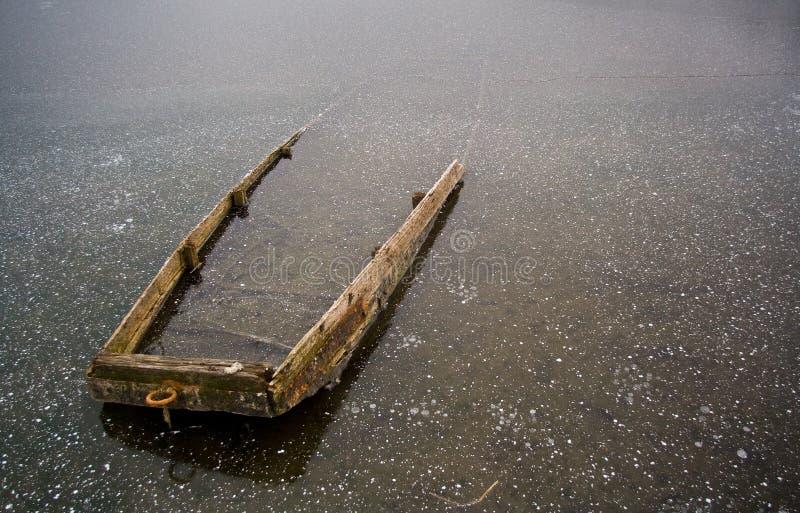 łódź marznąca obraz stock