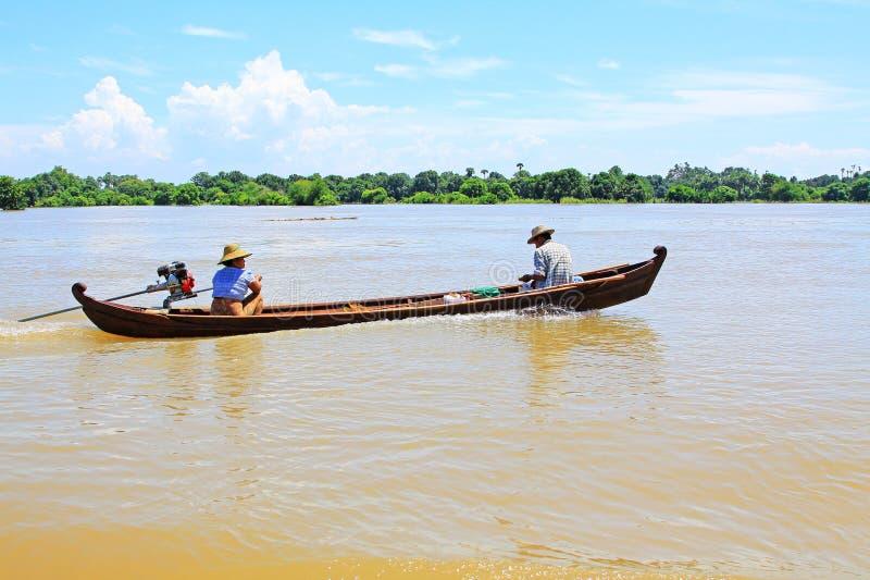 Łódź Na Irrawaddy rzece, Mandalay, Myanmar zdjęcie royalty free