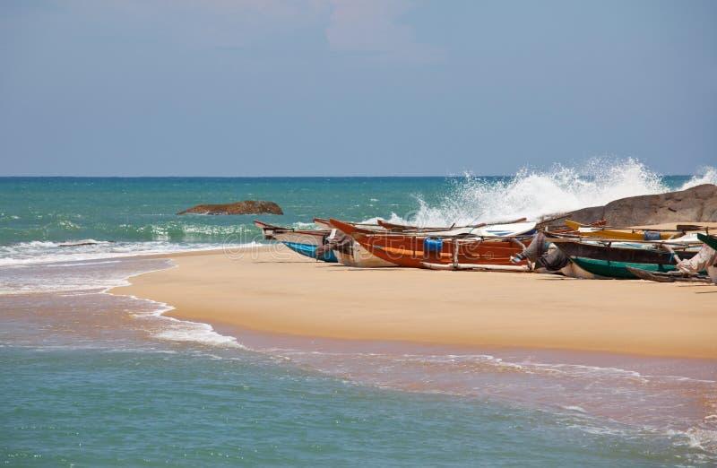 Łódź na Sri Lanka obraz royalty free