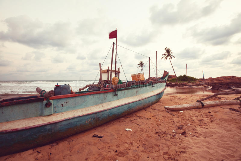 Łódź na Sri Lanka fotografia royalty free
