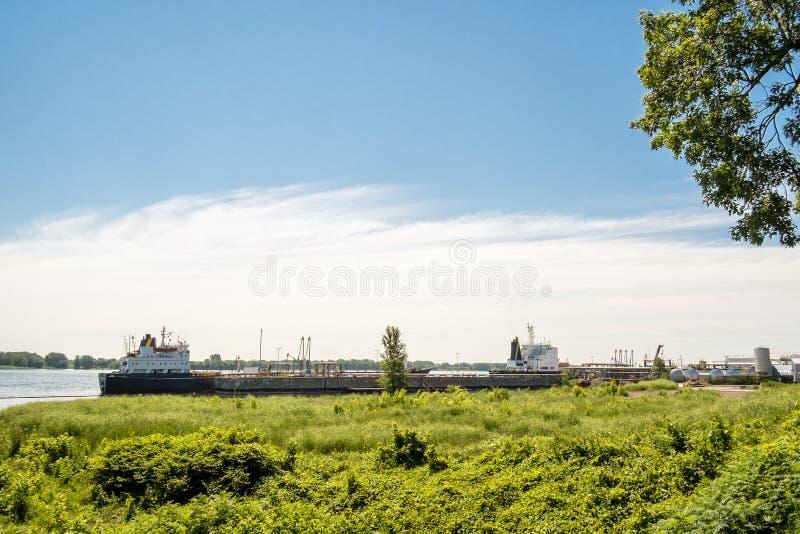 Łódź na St Lawrance Seaway zdjęcia royalty free