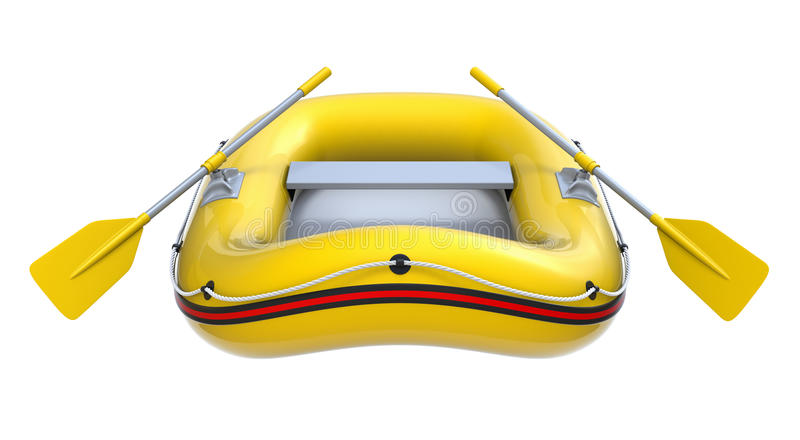 łódź nadmuchiwana royalty ilustracja