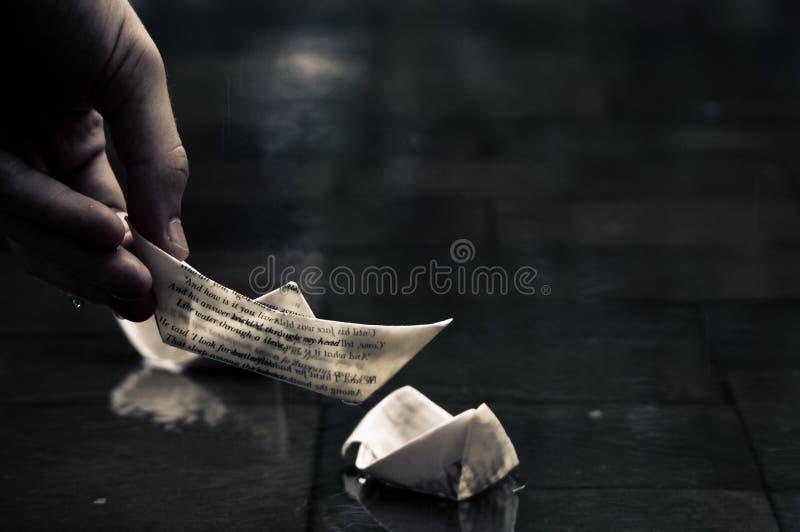 łódź papier obrazy royalty free