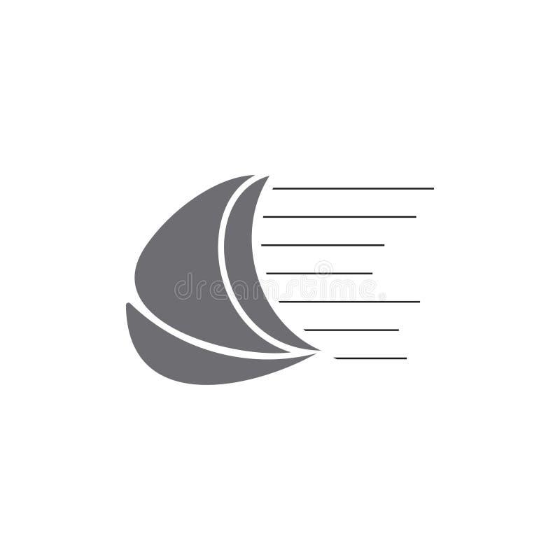 Łódź postu żagla symbolu logo geometryczny wektor ilustracji