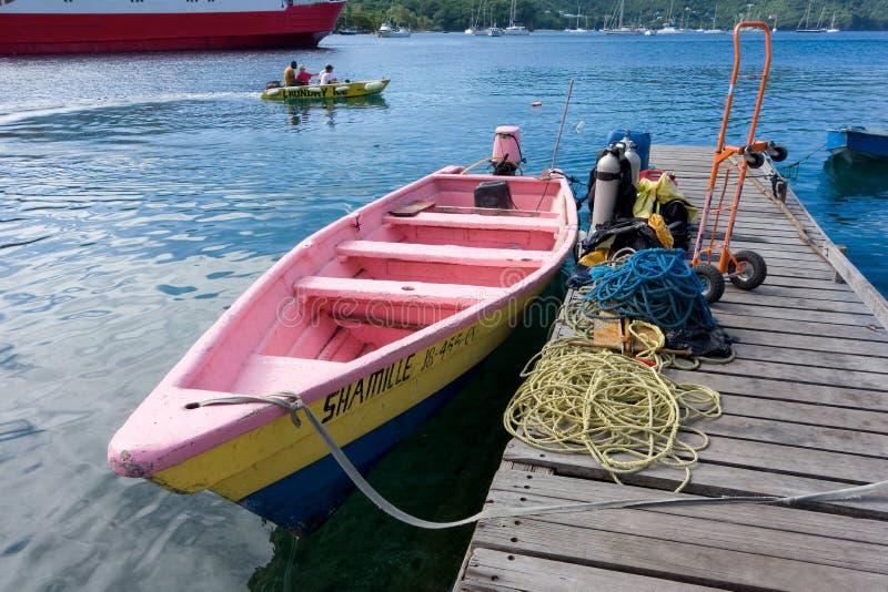 Łódź rybacka przy portowym Elizabeth obrazy royalty free