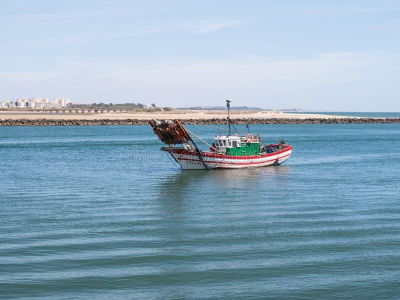 Łódź rybacka w Ayamonte, Punta Del Morał zdjęcie stock