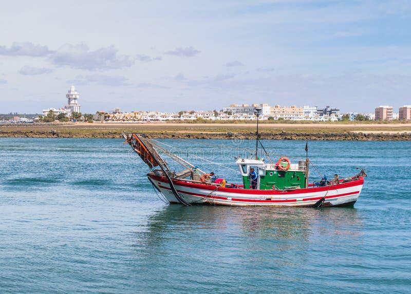 Łódź rybacka w Ayamonte, Punta Del Morał zdjęcie royalty free