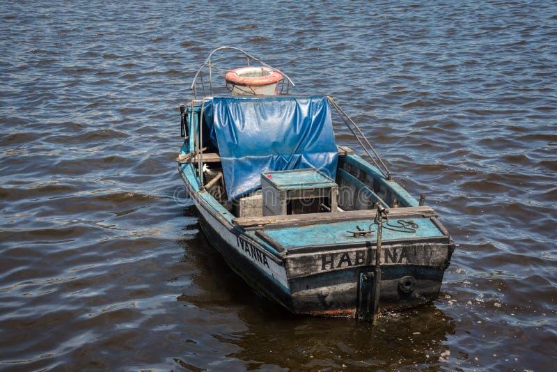 Łódź rybacka w Hawańskim zdjęcie royalty free
