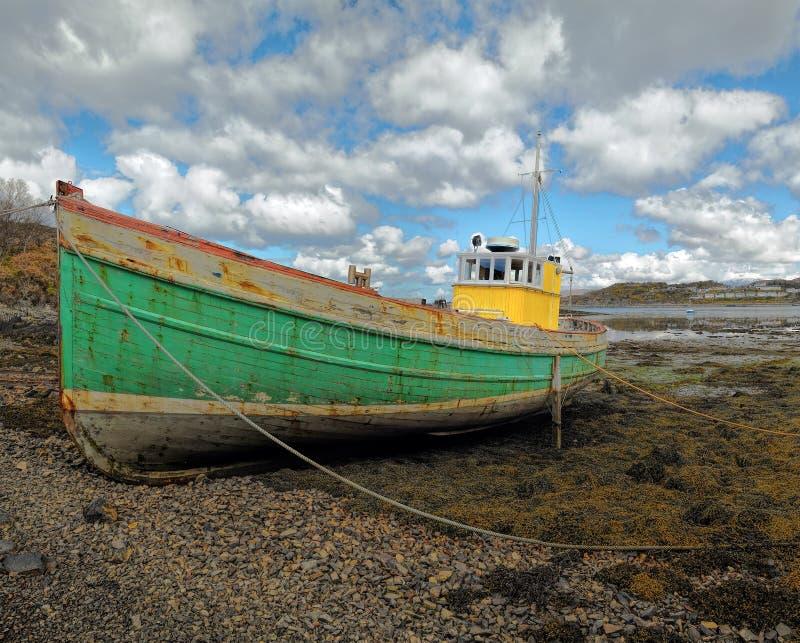 Łódź rybacka w Kyleakin obrazy royalty free