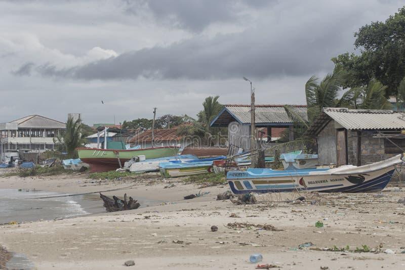 Łódź rybacka w Sri Lanka valvattithurai zdjęcia royalty free